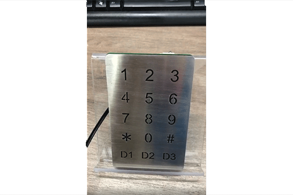 Xianglong New Design-Optical touch stainless steel illuminate keypad-B809