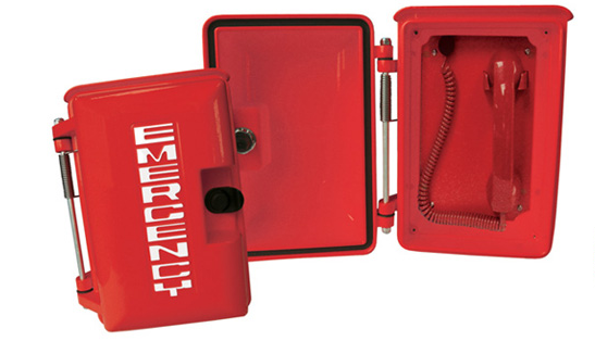 Red IP65 Warterproof Handsets Were Installed In Pool Emergency Telephone Project